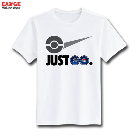 Just Pokemon Go T Shirt Parody Famous Logo Funny Design T-shirt Unisex Printed Top Tee Cool Fashion Novelty Style Tshirt - Animetee - 2