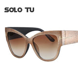 2017 Fashion Vintage Oversize Cat Eye Sunglasses Women Brand Designer Sun Glasses Female Retro Big Mirror Ladies Eyewear