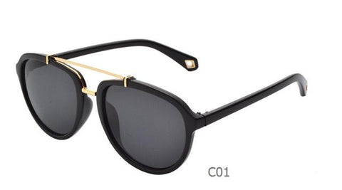 Hot Selling Big Star Style Double Beam Design Female Male Sun Eyeglasses