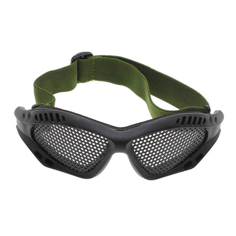 Outdoor Elastic Tactical Airsoft Steel Mesh Goggle Sun Glasses Eye Protection