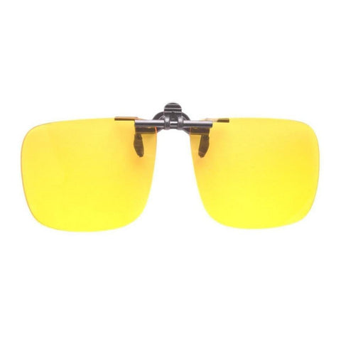 F9 Polycarbonate Clip on Flip up Canary Yellow Enhancing Driving Glasses (60*48mm(132mm wide F9)