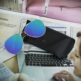2016 Hot Classic Mirrored Sunglasses Plus Glasses Case Men Silver Mirror Vintage Sunglasses Women Glasses