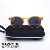 VAZROBE Polarized Men's Sunglasses 2017 Women Retro Round Driving Polarizing Sun Glasses for Male Vintage goggles quality