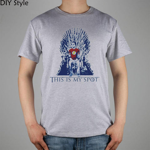 Winter Game of Thrones GOT The Big Bang Theory Sheldon THIS IS MY SPOT T-shirt  11078 Fashion Brand t shirt men new high quality AT_77_7