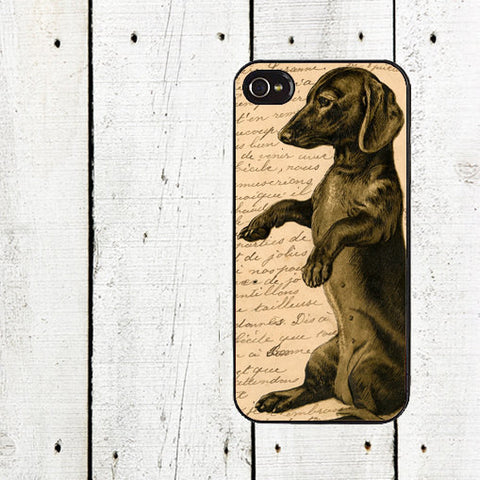 Weiner Dog Vintage Dachshund sink case cover for iphone 4 4s 5 5s 5c 6 6s 6plus 6s plus drm - Animetee - 5