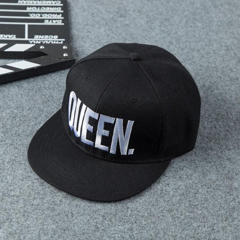 ... King   Queen Cap Snapback Bone Dad Hat Acrylic Couple Baseball Cap For  Men Women Girl ... a9577049fd2a