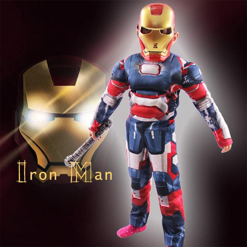 Iron Man Mark 42 / Patriot Muscle Children Kids Halloween Costume Fantasia Avengers Superhero Cosplay Outfit & Iron Man Mark 42 / Patriot Muscle Children Kids Halloween Costume ...
