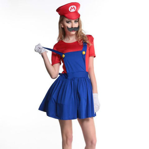 Princess Super Mario Costume Women For Adults Bros Girl Cosplay