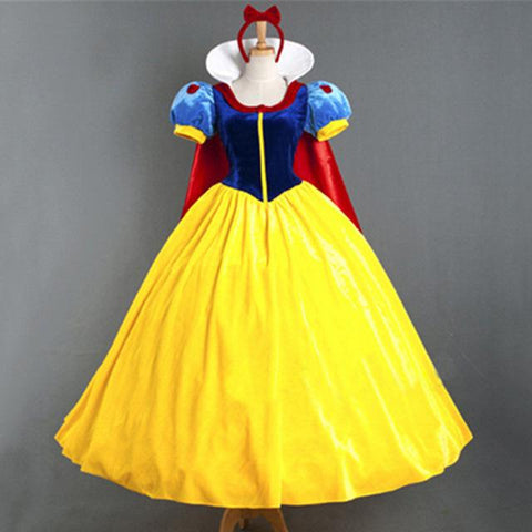 8fdee76986720 Free Shipping Adult halloween costumes for women Sexy Cartoon Princess Snow  White Costume Outfit Fancy Dress Plus Size S-XL