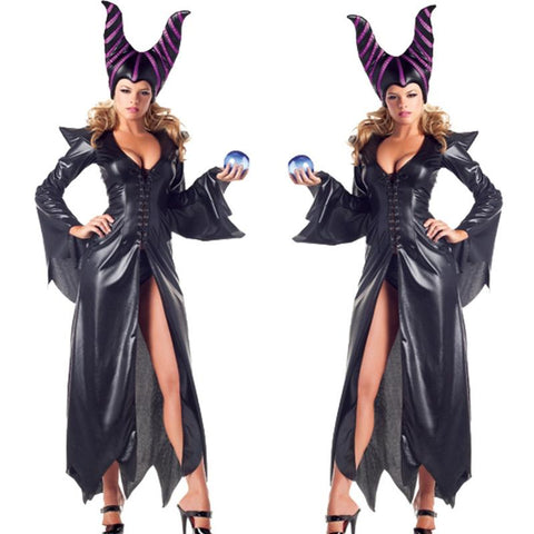 High Quality Maleficent Costume Pu Movie Maleficent Cosplay Costumes Adlut Sexy Halloween Costumes For Women Party Fancy Dress