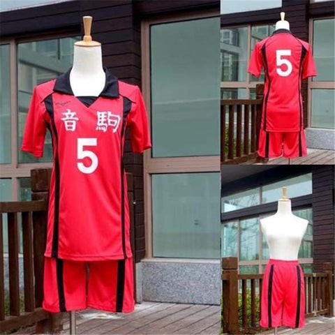 Anime Haikyuu Nekoma High School No.5 Kenma Kozume Cosplay Uniform Volleyball Team Jersey No.1 Kuroo Tetsurou Sportswear Cosplay