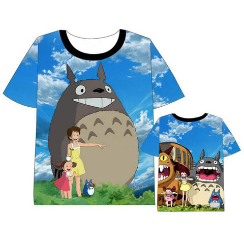63d9c3db63 Anime My Neighbor Totoro Cute Cartoon Printed Short Sleeve T-shirt Cosplay  Costume Fashion Casual