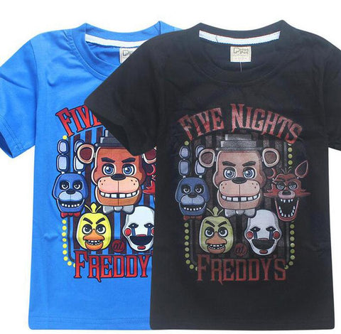 2 styles five nights at freddy s t shirt cos anime fnaf cosplay