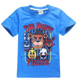 2 Styles Five Nights at Freddy's T-shirt Cos Anime FNAF Cosplay Freddy Fazbear Kids Clothing Cotton Shirts Boys Clothes Tops