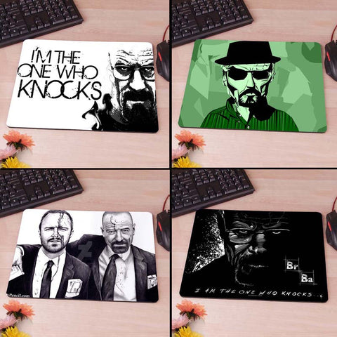 Breaking bad Walter White Jesse Pinkleton Computer Mouse Pad Mousepad Decorate Your Desk Non-Skid Rubber Pad tvi - Animetee - 1