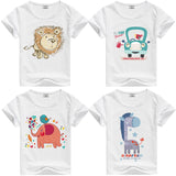 Lion Pig Elephant Rabbit zoo animal variety tee t-shirt boys girls child childrens clothing - Animetee - 1