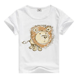 Lion Pig Elephant Rabbit zoo animal variety tee t-shirt boys girls child childrens clothing - Animetee - 10