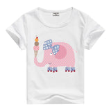 Lion Pig Elephant Rabbit zoo animal variety tee t-shirt boys girls child childrens clothing - Animetee - 5