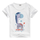 Lion Pig Elephant Rabbit zoo animal variety tee t-shirt boys girls child childrens clothing - Animetee - 9