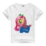 Lion Pig Elephant Rabbit zoo animal variety tee t-shirt boys girls child childrens clothing - Animetee - 6