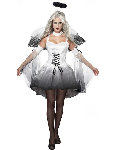 MOONIGHT Hot Fashion White Angle Costume Fairy Costume Cheap Black Angle Costume New Angle Clothing with Wings Angle Dress
