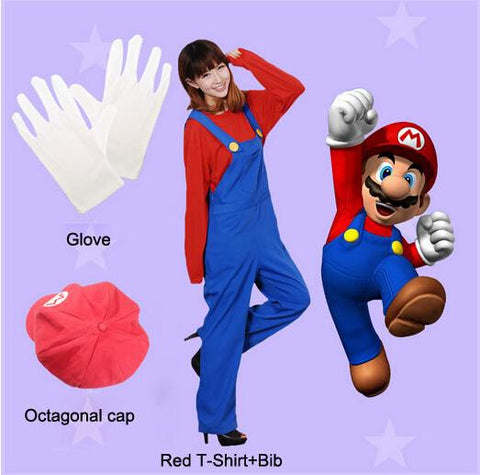 47d600df1482 Stock Hot Sale Kid Adult Green Red Color Luigi Mario Cosplay Costume from Super  Mario Bros ...