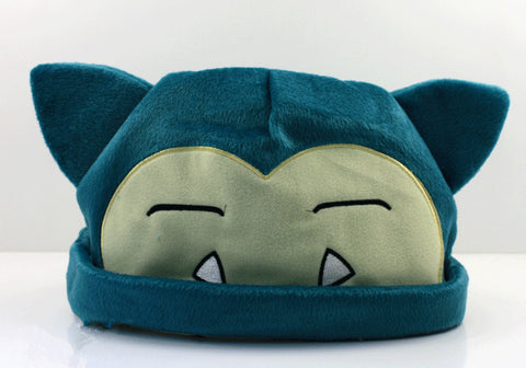 1pcs Pokemon Snorlax Plush Beanies Cosplay Hat 20cm For kids Free Shipping - Animetee