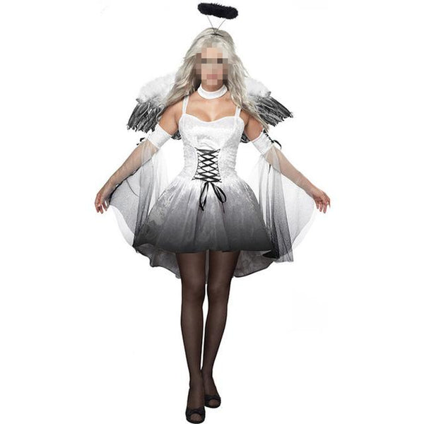 Halloween Costumes For Women Sexy angels costumes lace up front sleeve –  2018_AT_142_30_(Animetee.com_Friends)