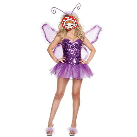 Purple Halloween Costumes Stage With Angels Role-Playing Bees Butterfly Animal Costumes Clothing With Wings