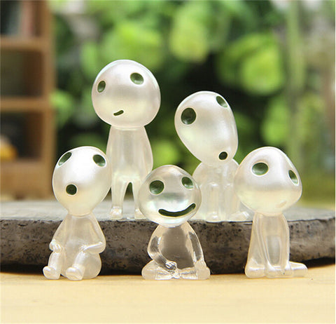 5pcs/set funko pop Luminous Tree Elves Toy Miyazaki Cartoon Princess Mononoke Action Figure Toys Kids Gifts Pokemon Wholesale - Animetee - 2