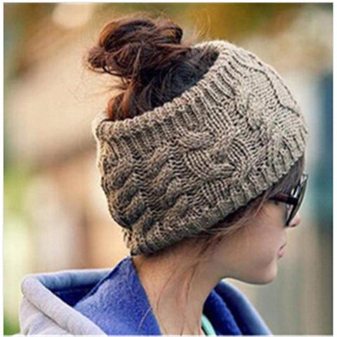 Chic Women Knitted Empty Skull Beanie Warm Hat Lady Girl Winter Cap clearance