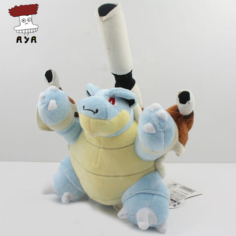 "Pokemon Plush Toys 7"" 17cm Mega Evolution Blastoise Kawaii Soft Stuffed Plush Doll Kids Toys Christmas Gift For Children - Animetee"