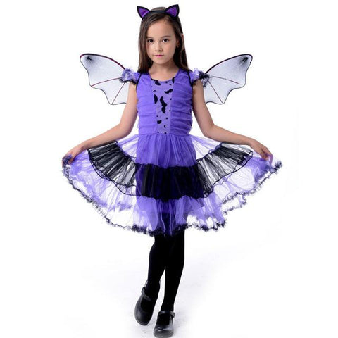 Girls Gothic Witch Costumes Kids Child Halloween Costume For Girls Cos 2018 At 142 30 Animetee Com Sbra