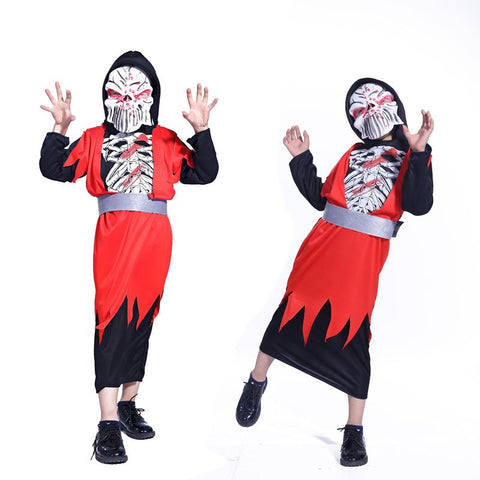 halloween costume children red ghost zombie cosplay costumes boy ghost wear stage performance costumes