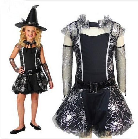 Black Witch Costumes For Girls Halloween Cosplay Costumes Children Cos 2018 At 142 30 Animetee Com Sbra