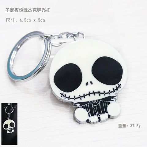 1pcsThe Nightmare Before Christmas Jack Keychain Key Chain Pendant Keyring Key Ring For Man's Boy's Women KT352  hwd - Animetee