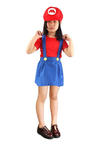 Children Family Funy Cosplay Costume Boy Girl Super Mario Luigi