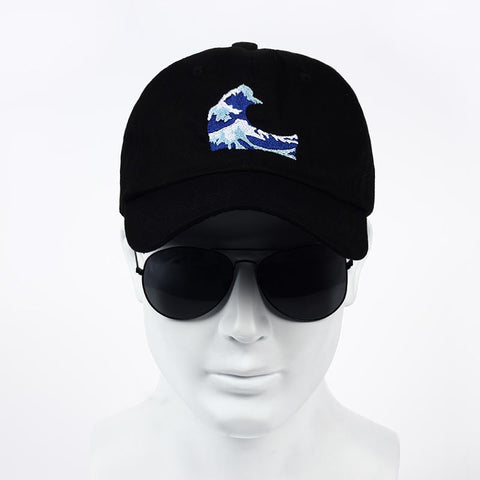 VORON 2017 ne w Embroidery Wave Dad Hat Japanese Baseball Cap For Women Men  Casual ... d46664811b1a