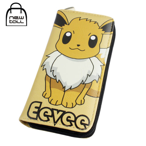 [NEWTALL] Pokemon Eevee Japanese Anime Pocket Monster PU Leather Long Zipper Purse Card Holder Clutch Wallet Free Shipping T1220 - Animetee