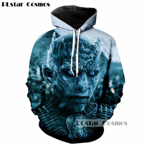 Winter Game of Thrones GOT PLstar Cosmos Brand clothing  The white walkers Ghost 3D Print Men/Women Hoodies Casual hoodie Cool Sweatshirts AT_77_7