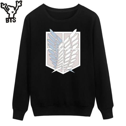 Cool Attack on Titan BTS  Sweatshirt Men Hoodie Autumn Fashion Funny Cartoon Capless Hoodies Kids Japan Popular Anime Revie Clothes AT_90_11
