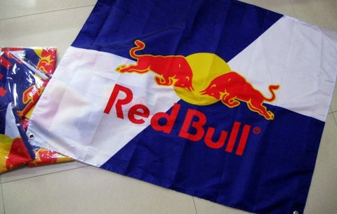 80x100cm Red Bull LOGO brand flag,Red Bull everage,drink,libation,fix, belly wash,free shipping,100% flag king polyester banner - Animetee