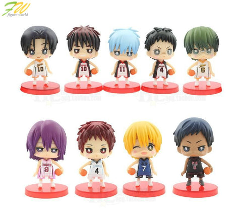 (9pcs/lot)Action figure Kuroko no Basket cute lovely cartoon doll PVC 7cm box-packed japanese figurine anime 160188