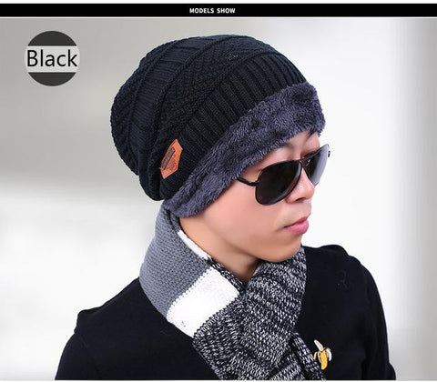 17940d7b472a7 2017 New Knitted Winter Hat Scarf Beanies Knit Men s Winter Hats Caps –  2018 AT 142 30 (Animetee.com Friends)