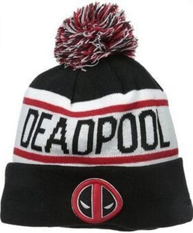 % Popular fashion Deadpool Street hip-hop skateboard knitted hat ball cap jacquard wool hat men and women fall and winter