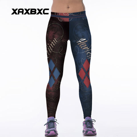 084 High Waist Workout Silm Fitness Women Leggings Pants Trousers Sexy Girl Fashion Vintage Suicide Squad Harley Quinn Prints