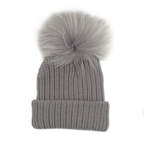 Wool Knitted Winter Caps Fur Pompom Hat For Kids Warm Beanies 2017 Bab –  2018 AT 142 30 (Animetee.com Friends) a45f76469ad