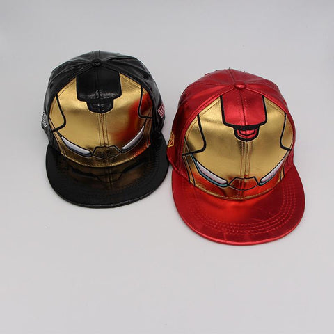10pcs 3Colors Ironman Avengers Baseball Caps Iron Man Kids Adult Cartoon Casual Hip-hop Caps Boys Dad Cosplay Party Caps Hats