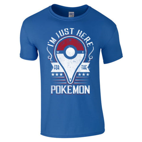 (Harajuku T Shirt) pokemon go Men Sports Casual T Shirt Pokemon Tees Men's T-shirts Cotton Tops Clothing Camisetas us size S-XXL - Animetee - 1