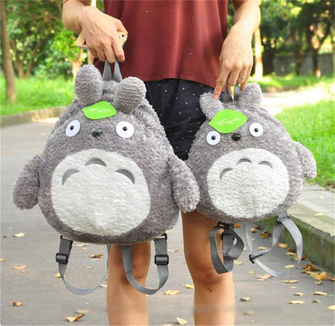 1pcs New Lovely Stuffed Toys Totoro Plush Backpack Cartoon School Bag Animal Plush Toys Gift Pokemon Gundam - Animetee - 1